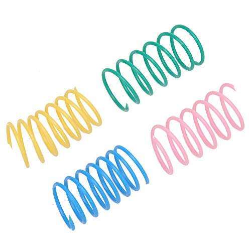 12PCS Plastic Coil Spring Toy Pet Wide Springs Colorful Bounce Kitten Toys Kitten Interactive Playing Pet Cat Spring Toys