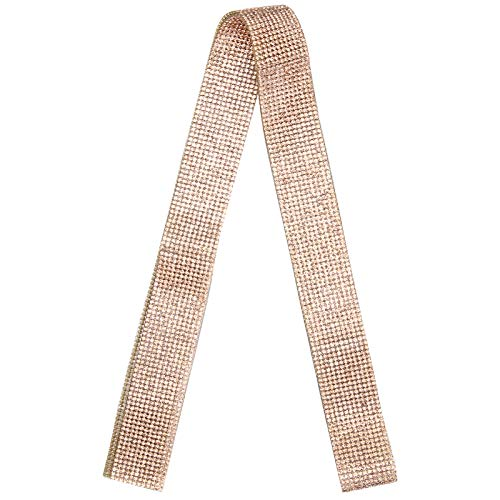 Jeanoko Cinturón de cristal de viscosidad fuerte y brillante, decoración delicada y estable, resistente a altas temperaturas, para decorar ropa para fiestas (champán)