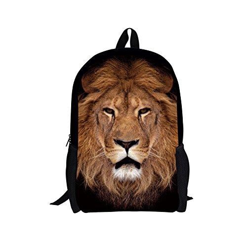 HUGSIDEA Kinderrucksack, Lion Head (Braun) - Y-3187C