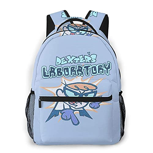Hdadwy Backpack Dexter's Laboratory What Do You Want School Backpack Travel Bookbag Lightweight, Casual Daypack for 15.6' Laptop