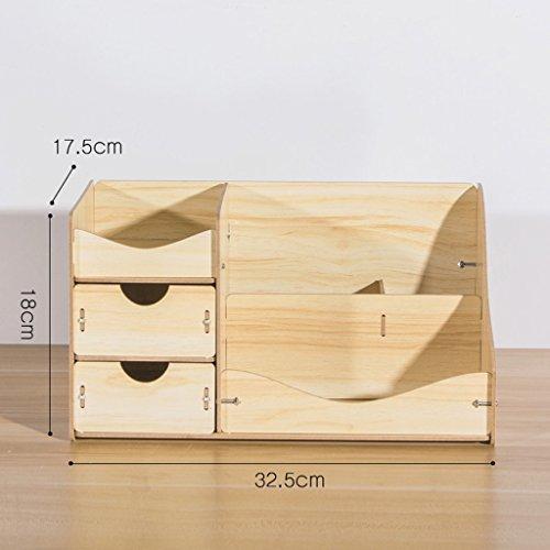 Bureau Boîte de rangement cosmétiques tiroir Cute Dresser Soins de la peau Bijoux Finition Tablette Bois Bricolage (couleur : N ° 3)