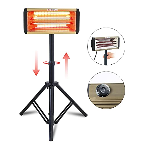 2000W Lampe de Séchage de Peinture Infrarouge Lampe de Durcissement de Peinture Infrarouge Portable Lampe Infrarouge Carrosserie Peinture avec support (220V EU)
