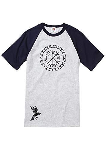 Runes T-Shirt Gr. L, Gris et Bleu