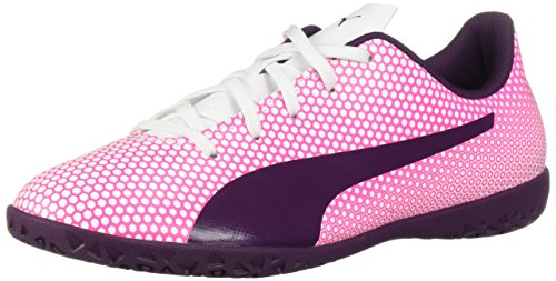 PUMA Unisex-Child Spirit Indoor Trainer Soccer Shoe, White...
