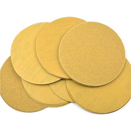 GFHDGTH 20PCS 6 Inch 150mm Droge schuurschijven Massaal schuurpapier, korrel 80-400 voor klittenband Schuurpad Hout Metaal Polijsten, 400