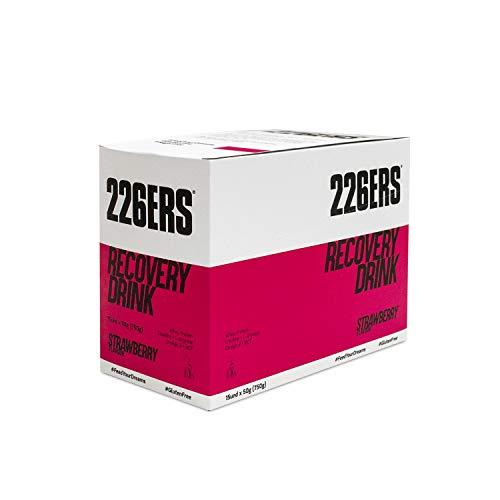 226ERS Recovery Drink Monodose | Integratore per il Recupero a base di Proteine Whey, Creatina, Carboidrati, Lino Dorato, Trigliceridi e L-Arginina, Senza Glutine, Fragola - 15 unità x 50 gr
