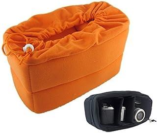 サイズが合えばどんな バッグ も カメラ バック に カメラ インナー ソフト クッション ボックス オレンジ