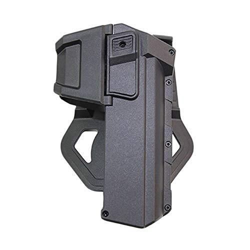 Vioaplem Táctica Móvil Fundas De Pistola Extremadamente Ligera Funda For Glock 17 18 con La Linterna O Láser Montado Funda Mano Derecha De La Cintura Pistoleras (Color : Black)