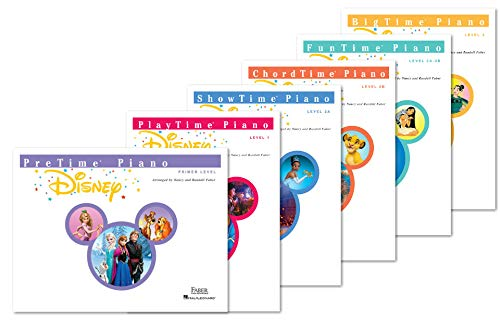 NEW Faber Piano Adventures Piano Disney Complete Books Set (6 Books) - Primer Level, Level 1, Level 2A, Level 2B, Level 3A-3B, Level 4
