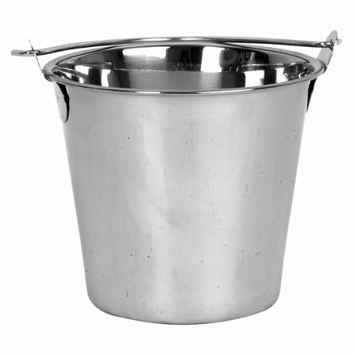16 Qt. Stainless Steel Pail Balti, Heavy-Duty Ice Bucket with Handle