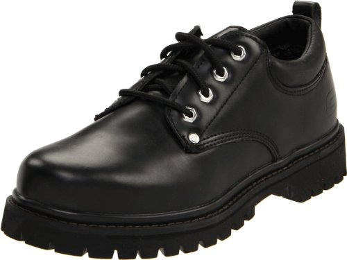 Skechers Men's Alley Cat Utility Oxford,Black Smooth,10.5 M US