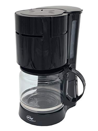 Elta Kaffeemaschine, 1000 Watt, 12 Tassen, schwarz