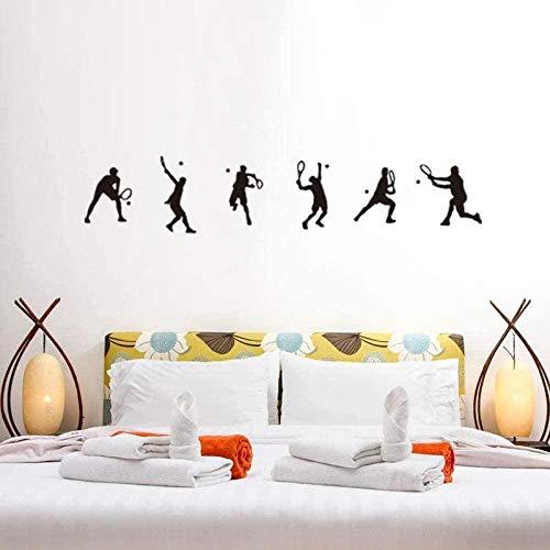 Arte de pared pegatinas de pared deportiva oferta fútbol jugadores de baloncesto calcomanías de pared decoración de pared artística habitación de niños 25X114CM