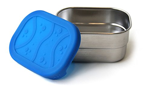 ECOlunchbox Blue Water Bento Splash Pod - Leak-proof Stainless Steel and Silicone Snack Container by Blue Water Bento