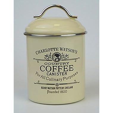 Charlotte Watson Enamel Ware Coffee Tin Canister 67419