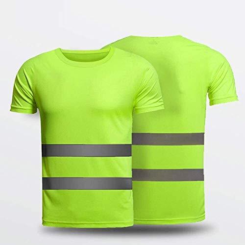 Safety Vest Camiseta Reflectante Chalecos de protección de Seguridad Fallo de tráfico Viaje de Falla del tráfico en la Noche Chaqueta de Ropa Fluorescente