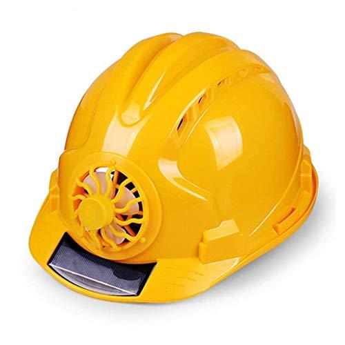 Crash Helm Veiligheid werkhelm, bouw werker helm, zonne-ventilator helm, industriële harde hoed, werkhelm Work helm Geel