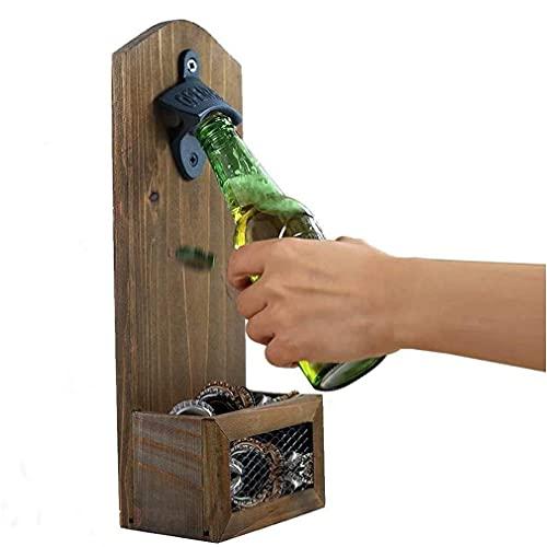 Apriscatole della bottiglia della birra a muro Retro Color Color Cavatappi per cavaturaccioli in legno Cavatappi a muro Apriscatole in ghisa per bar