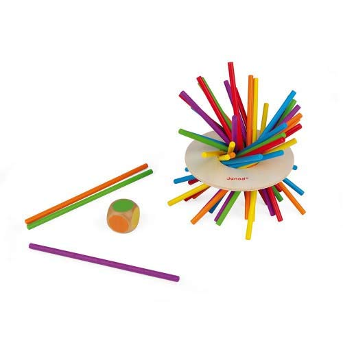 Janod Jeu d'Adresse-Crazy Sticks (Bois), J02695, Multicolore