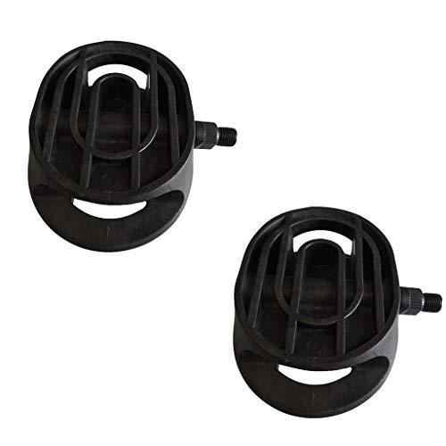 DROHOO 2 Pedales universales para Bicicleta estática con rodamiento Antideslizante para Bicicleta giratoria y Bicicleta de Interior, Color Negro