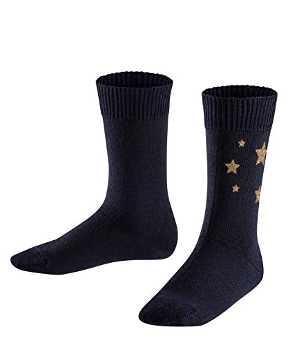 Falke Glitter Stars Print Calcetines, Azul (Dark Navy 6370), 23-26 para Niñas