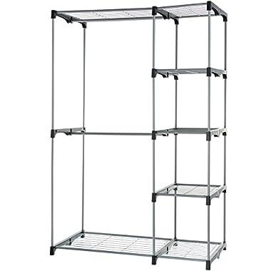 AmazonBasics Double Rod Freestanding Closet - Silver