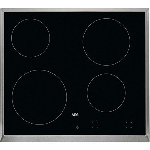 AEG HK624000XB Einbauplatte Halogen schwarz (integriert, Halogen Schwarz, 1200 W, Höhe 14,5 cm)