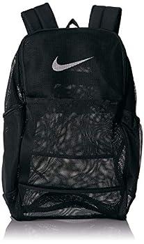 NIKE Brasilia Mesh Backpack 9.0 Black/Black/White Misc