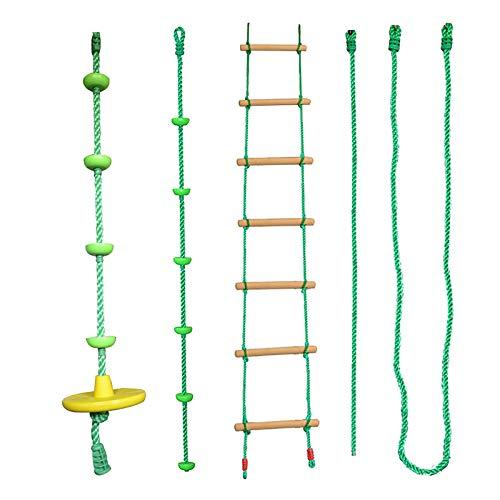 Kinderhandlauf, Outdoor-Kletterset, Balance-Trainingsset, Kinder-Swing-Hindernis-Set und Ruder Fun Toy Warrior-Hindernisparcours, Swing-Outdoor-Sportarten