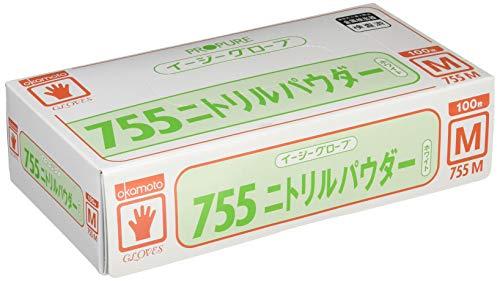 オカモト イージーグローブ755ニトリル M 100枚入 755M