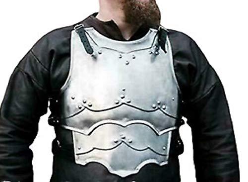 Medieval LARP Steel Cuirass Chest Back Armor Warrior Mercenary - Large