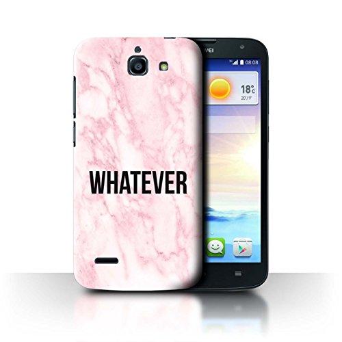 Handy Hülle kompatibel mit Huawei Ascend G730 Komisch Marmor Diva Mode Whatever Transparent Klar Ultra Dünne Handyhülle Hülle Cover