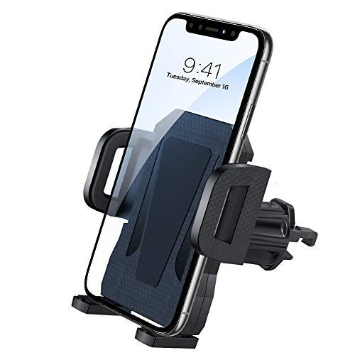 miracase MOVING LIFE Handyhalterung Auto, Lüftung Upgrade mit 2 Lüftungsclips Smartphone kfz Halterung 360° Drehbar Handyhalterung Kompatibel für iPhone SE 11 11Pro Samsung S20 S10 Huawei Xiaomi usw