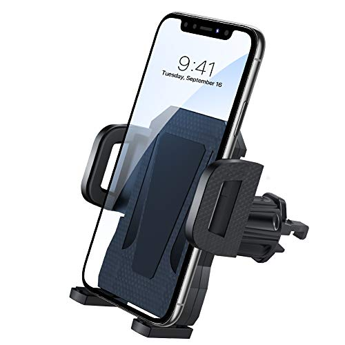 miracase MOVING LIFE Handyhalterung Auto, Lüftung Upgrade mit 2 Lüftungsclips Smartphone kfz Halterung 360° Drehbar Handyhalterung für iPhone SE 11 11Pro Samsung S20 S10 Huawei Xiaomi usw