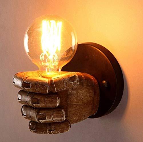 MJSM Light Wandlamp Retro Hand rechtse vorm industriële nachtkastje restaurant bar café slaapkamer lamp