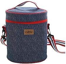 حقيبة لحفظ الطعام من ساني، صغيرة الحجم عازلة حراريا يمكن استخدامها لحفظ حليب الام، مانعة للتسرب مزودة بحزام قابل للتعديل و...