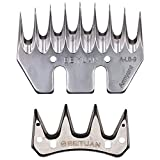 Gtest Coltello per cesoie di Alta qualità Progettato per cesoie elettriche per Ovini, Dente per taglierina 9/13, Accessori per tagliacapelli elettrici diritte/Curve, sostituibili,9CT