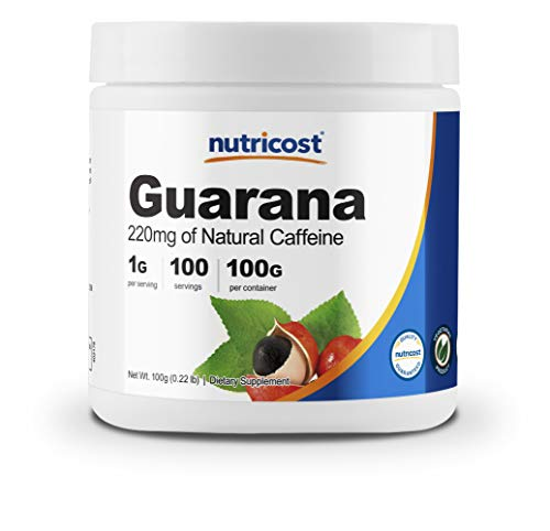Nutricost Guarana Powder 100 Grams - Natural Herbal Brazilian Caffeine Energizer Supplement