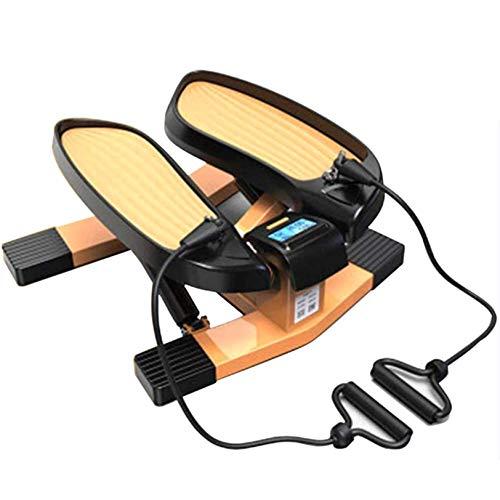 LJYLF Mini-Fitnessgerät Inkl Up-Down-Stepper, Drehstepper & Sidestepper, Fitnesstraining für Zuhause, Heimtrainer, Swingstepper für Bein- und Po-Training