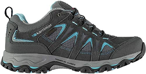 Karrimor Womens Mount Low Walking Shoes Waterproof Lace Up Breathable Mesh...