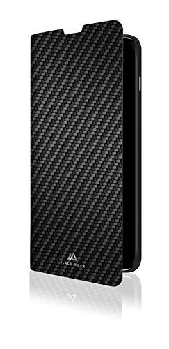 Black Rock - Flex Carbon Booklet Hülle für Samsung Galaxy S10 | Handyhülle, Schutzhülle, Silikon, Soft, TPU, Fiber Cover (Schwarz)