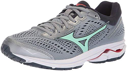 Mizuno Women's Wave Rider 22 Running Shoe, Trade Winds/Teaberry 6 B