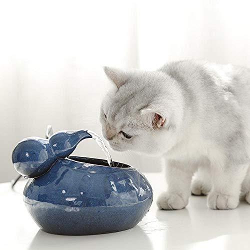 Cozyhoma Keramik-Trinkbrunnen für Katzen, automatische Zirkulation, Wasserspender für Haustiere, Wasserspender mit USB-Anschluss