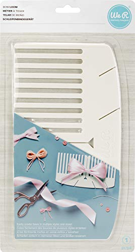 We R Memory Keepers American Crafts Basic Tools Bow Loom - Ribbon Maker Kit - Scrapbook and Gift Decor