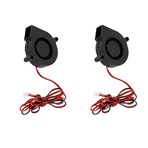 Sharplace 2 Pieces Mini Silent 24V 50mm 5015 Radial Turbo Cooler Blower Fan for 3D Printer