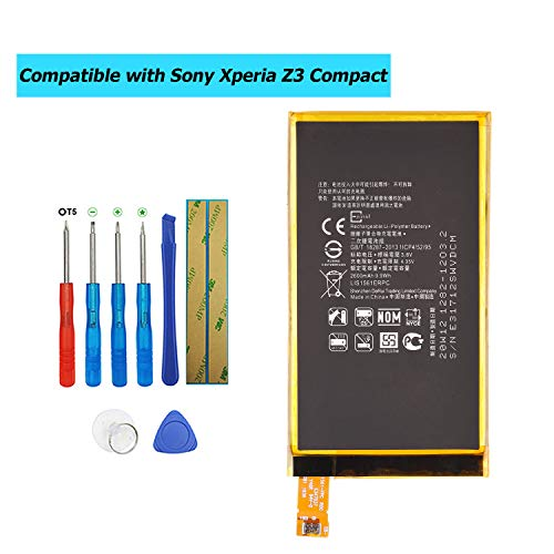 E-YIIVIIL LIS1561ERPC - Batería de repuesto compatible con Sony Xperia Z3 Compact D5833 D5803 con kit de herramientas