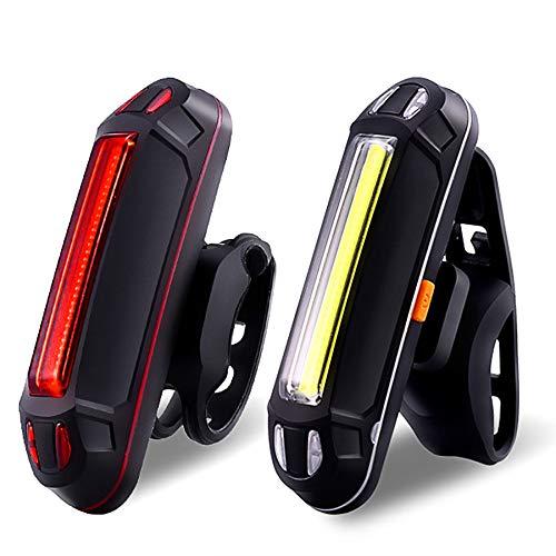 JOOLEE LED Fahrradlicht Set,Fahrradlampe USB Aufladbar und Wasserdicht Fahrrad Licht mit Frontlicht und Rücklicht