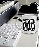 N\A Taza Clase Judo Taza Grande. Taza de Clase de Judo Regalo Straight Outta Judo Class Mug Taza Grande. Regalo para Alguien de la Clase de Judo Obsequio de la Clase de Judo