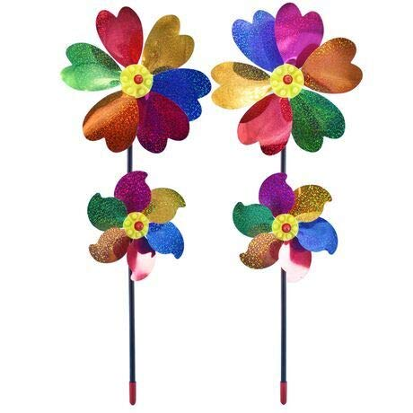 Modou (2 Stück Windspiel Windrad Windmühle Geeingnet für Gärten/Terrassen/Balkone und ebenso EIN schönes Spielzeug für Kinder