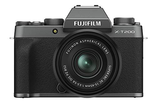 Fujifilm X-T200 Mirrorless Digital Camera w/XC15-45mm Kit - Dark Silver